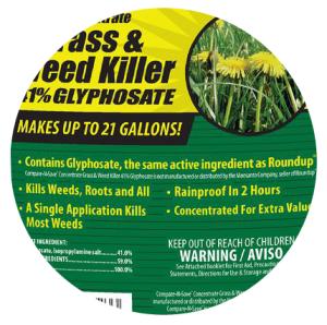 Compare-N-Save Concentrate Grass and Weed Killer Label