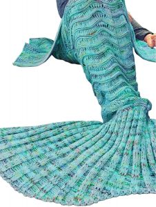 DDMY Handmade Wave Mermaid Tail Blanket