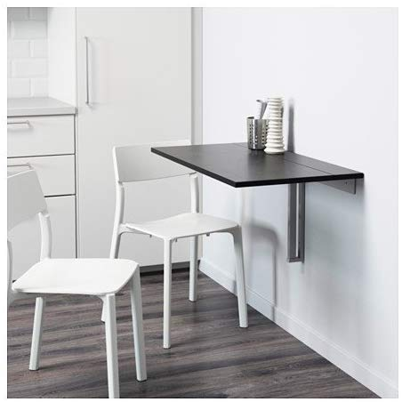 Ikea Black Drop-Leaf Table