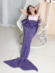 MAXCHANGE Mermaid Tail Blanket