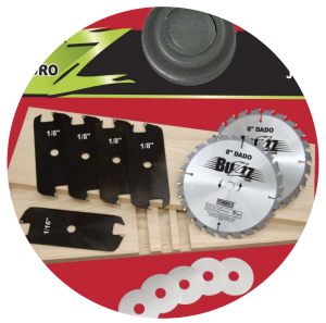 The Mibro Group 416381 8-Inch Stacking Dado Blade Set