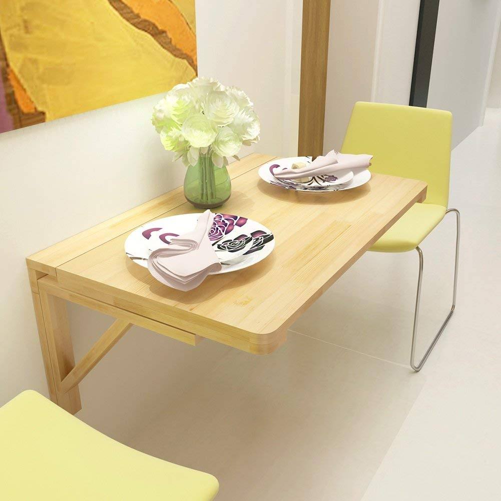 Solid Wood Folding Wall Mounted Table